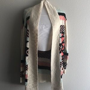 Aztec striped cardigan sweater